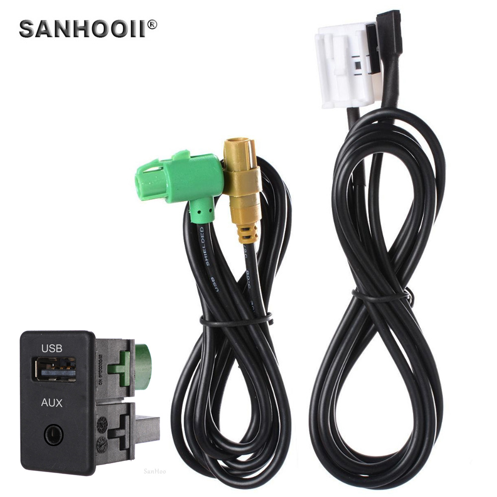 Usb Aux Cable Wire Adapter Audio Switch Plug For Vw New Magotan Volkswagen Touran Exterior Light Control Wiring System Polo Tiguan Aagitar Rcd510 Rns315 Rcd310 Rcd300 In Cables