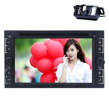 Android 4.4 Double din car dvd player GPS Navigation Bluetooth audio stereo Quad-core Wifi Hotspots autoradio Free camera