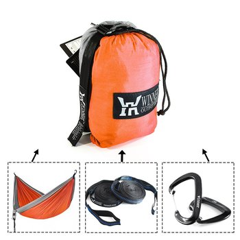 Upgrade Camping Hammock with Hammock Tree Straps Portable Parachute Nylon Hammock for Backpacking Travel 2
