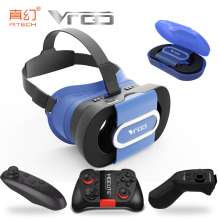 RITECH VRGO portable Foldable VR Glasses 3D Helmet Virtual Reality 3D Game For 4.0-6.0 Smartphone + Bluetooth Gamepad