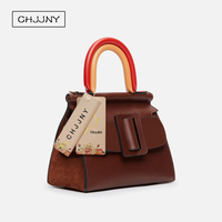 2016 Newest Fashion Style Genuine Leather Bark Grain Women Vintage Single Shoulder Bags
