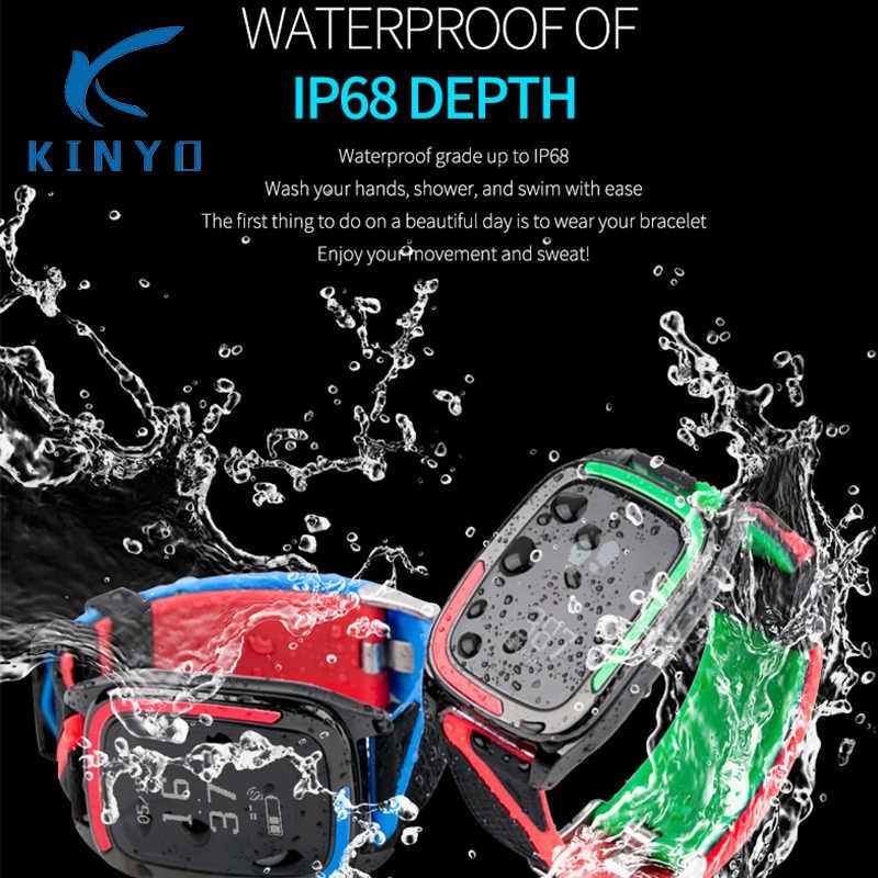 2018 IP68 pulsera inteligente a prueba de agua, actividad de natación, pulsera de Fitness, reloj, frecuencia cardíaca, banda de presión arterial PK xioami band 3