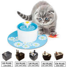 110 220V Electric Cat Pet Fountain 1.6L Water Feeder Automatic Dog Cat Drinking Bowl Pet Drink Cat Water Dispenser Blue Green new 2 5l automatic electric cat dog pet water fountain pet water feeder drink bowl drinker filter cat water dispenser