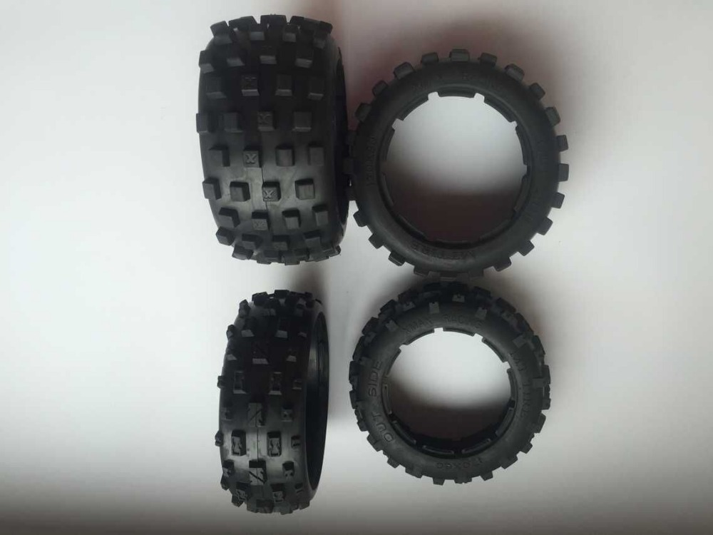 Baja 5B Front & Rear knobby tire set (without inner foam) for 1/5 HPI Baja 5b ss Rovan Kingmotor car (2x front and 2x rear) 5b front knobby wheel set with nylon super star wheel ts h85073 x 2pcs for 1 5 baja 5b wholesale and retail