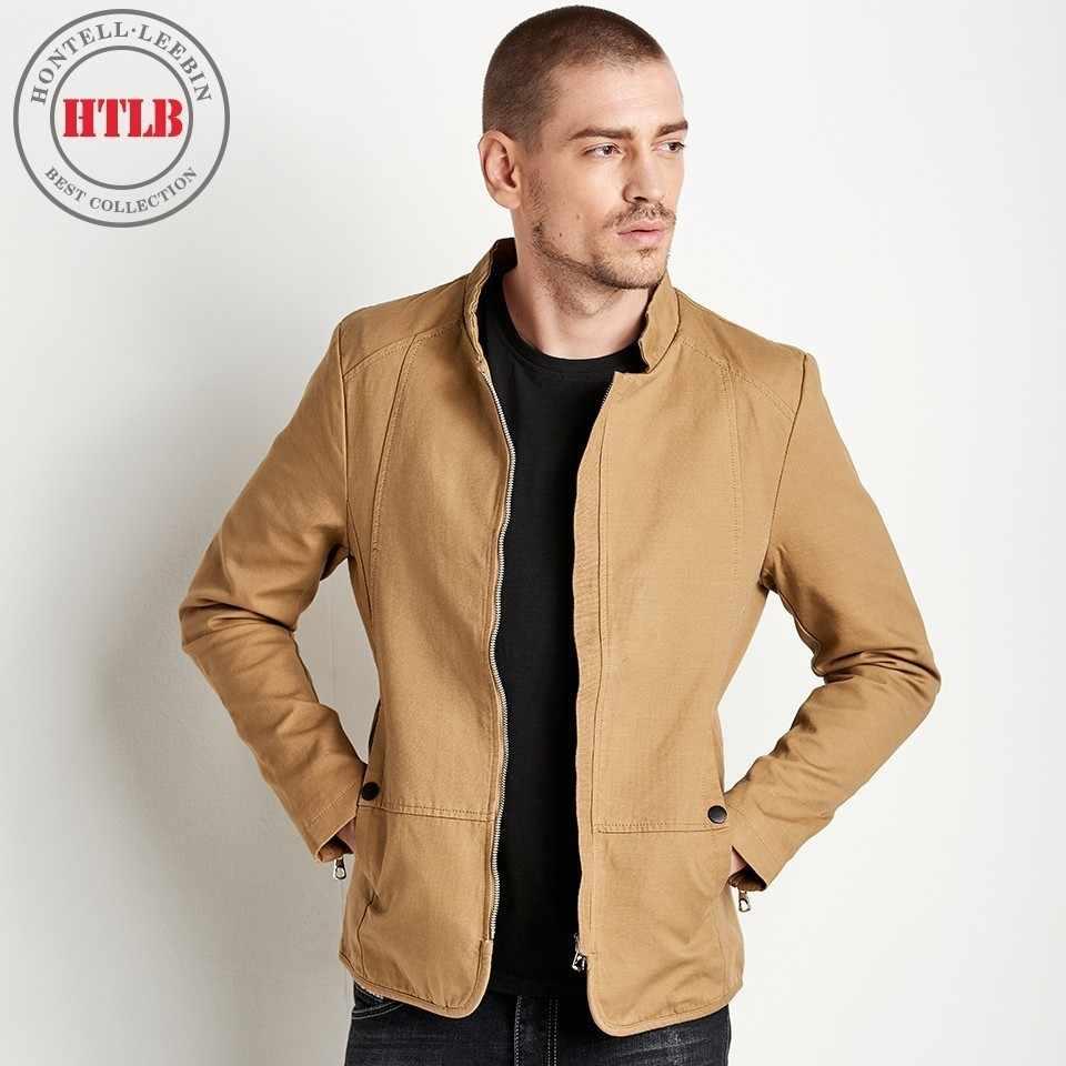 6d206cbfb95 Seckill HTLB Новинка 2018 года брендовая одежда Весна для мужчин однотонная  Повседневная куртка пальто
