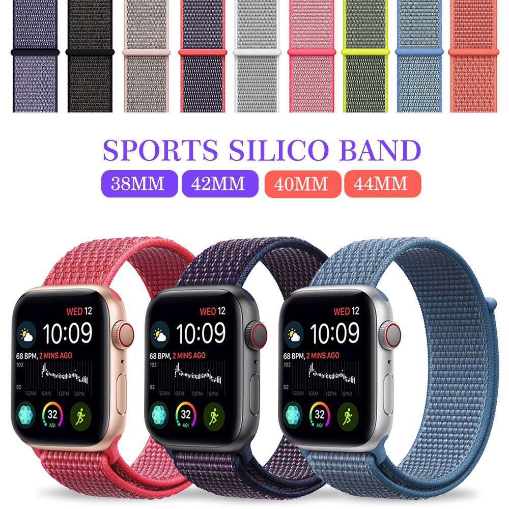 For Apple Watch Band Series 3/2/1 38MM 42MM Nylon Soft Breathable Nylon for iWatch Replacement Band Sport Loop series4 40mm 44mmFor Apple Watch Band Series 3/2/1 38MM 42MM Nylon Soft Breathable Nylon for iWatch Replacement Band Sport Loop series4 40mm 44mm