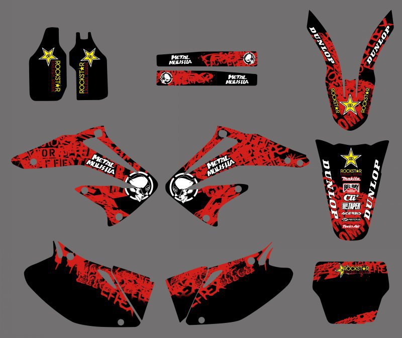 0172 Star New Style TEAM GRAPHICS BACKGROUNDS DECALS STICKERS Kits for Honda CRF450R CRF450 2002 2003