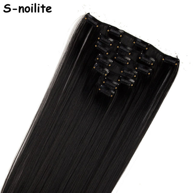 S Noilite 22 Women Long Straight Clip In Hair Extensions Extension