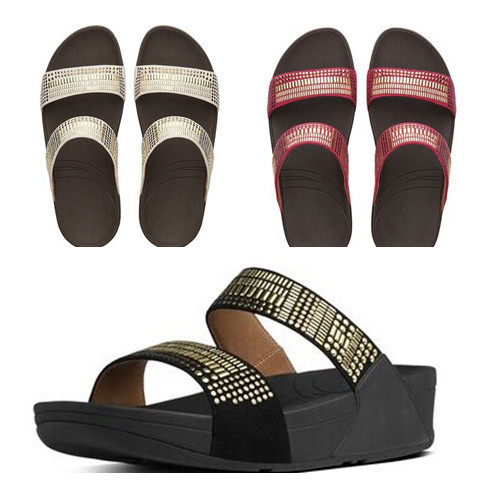 3eb1c0a81f1ca8 wholesale womens flip flops Aztek Chada slides cheap fashion brand sandals  wedges diamond ladies summer shoes Black