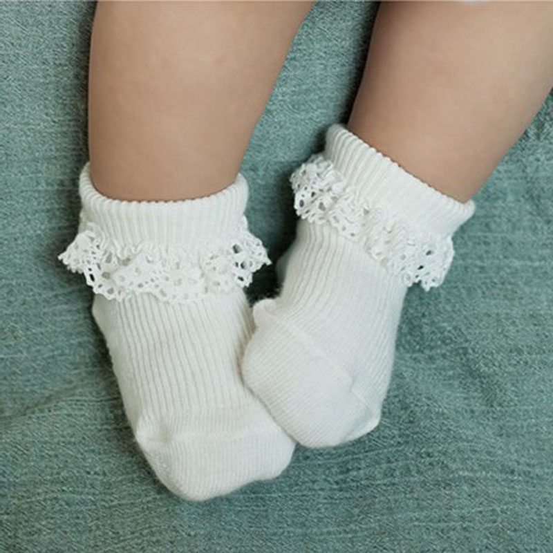 Yeni Pamuk Bebek Çorap 0-2 Yıl Için Uygun Dantel Unisex Erkek Kız Sevimli Çorap Newbron Sıcak Çorap