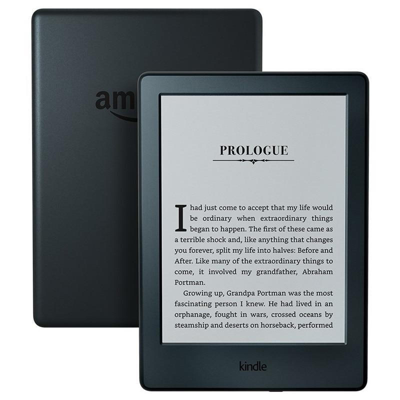 Kindle negro 2016 versión pantalla táctil, Kindle exclusivos Software, wi-Fi 4 GB eBook Pantalla de tinta electrónica 6 pulgadas lectores de libros electrónicos