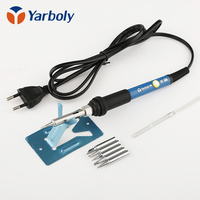 Yarboly Soldering Iron Temperature Adjustable Solder With 5pcs Tips High Quality Ceramic Heating Element
