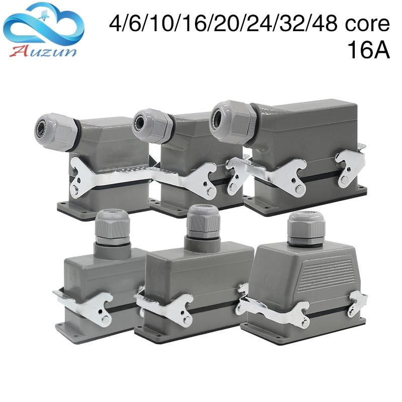 heavy duty conector retangular hdc he 4 6 10 16 20 24 32 48 nucleo plugue