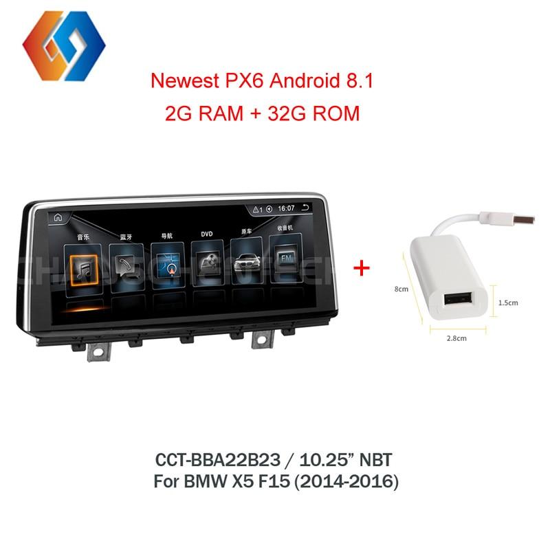 Voiture Multimédia GPS Radio 10.25 Android 8.1 Pour BMW X5 F15 X6 F16 NBT Système Intégré WiFi Bluetooth Tactile écran Stéréo 23