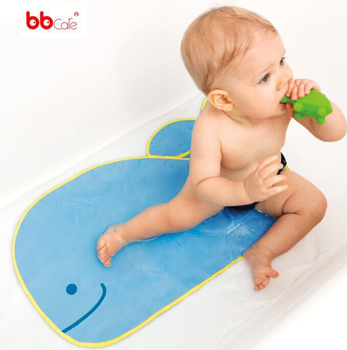 BBCare Baby Whale Shaped Bath Mat with Suction Cups