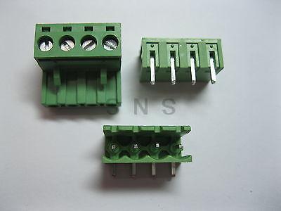 120 pcs 5.08mm Angle 4 pin Screw Terminal Block Connector Pluggable Type Green 150 pcs screw terminal block connector 3 5mm angle 7 pin green pluggable type