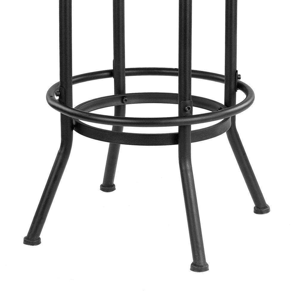 Ikayaa industrial estilo taburete altura ajustable silla giratoria ...