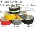 5 cm * 5 M Escaleras Suelo Arenoso de la rutina de Baño antideslizante de PVC Auto-adhesivo de Advertencia de Seguridad En Bruto cinta de Color 6 Para la Opción