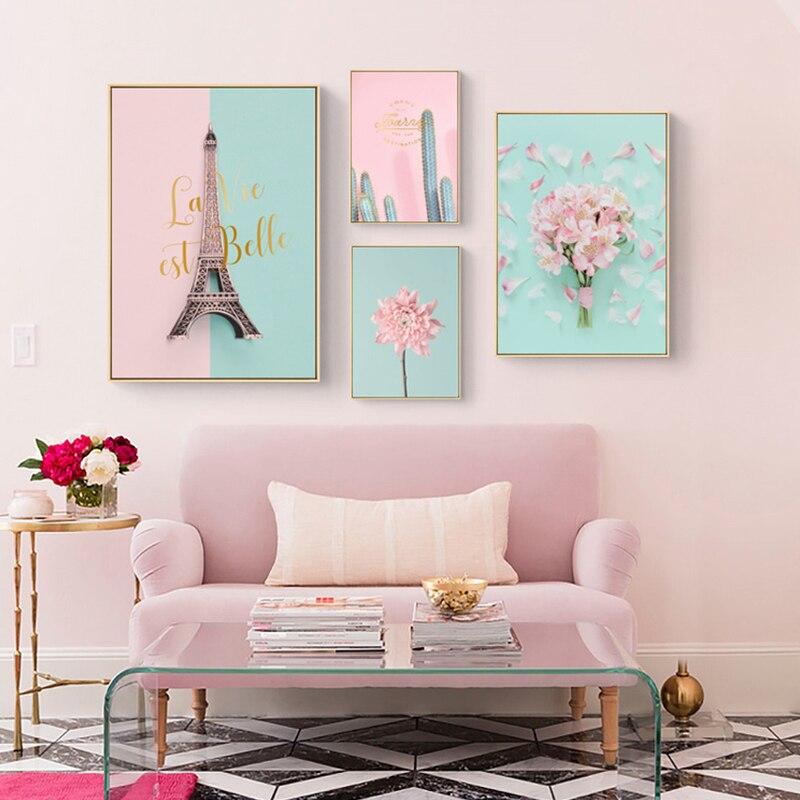 постер в розовых тонах конце февраля девочка
