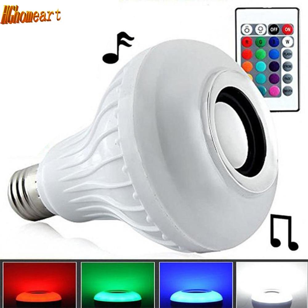 HGhomeart 24 Key IR Remote Controller Music Light-emitting Diode E27 12W Colorful RGB LED Bulb Lamp Speaker Light Bulbs Lampada diy 5mm led light emitting diode set 50pcs