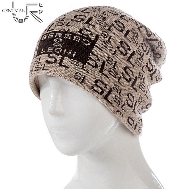 Unisex Ski   Beanie   Hat Warm Winter Hat SL Letter Print   Skullies     Beanies   Fashion Winter   Beanie   For Men Women Wool Fur Knitted Hat
