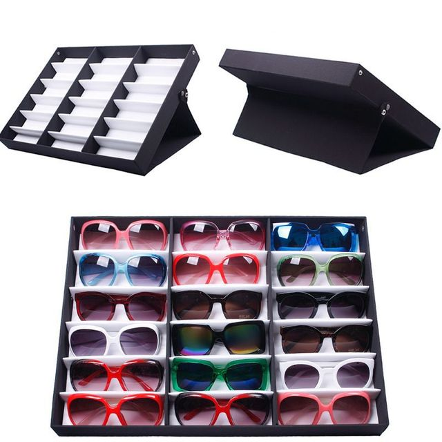 Genial Sunglass Organizer Box Jewelry Watches Display Storage Case For Women Men  #56337