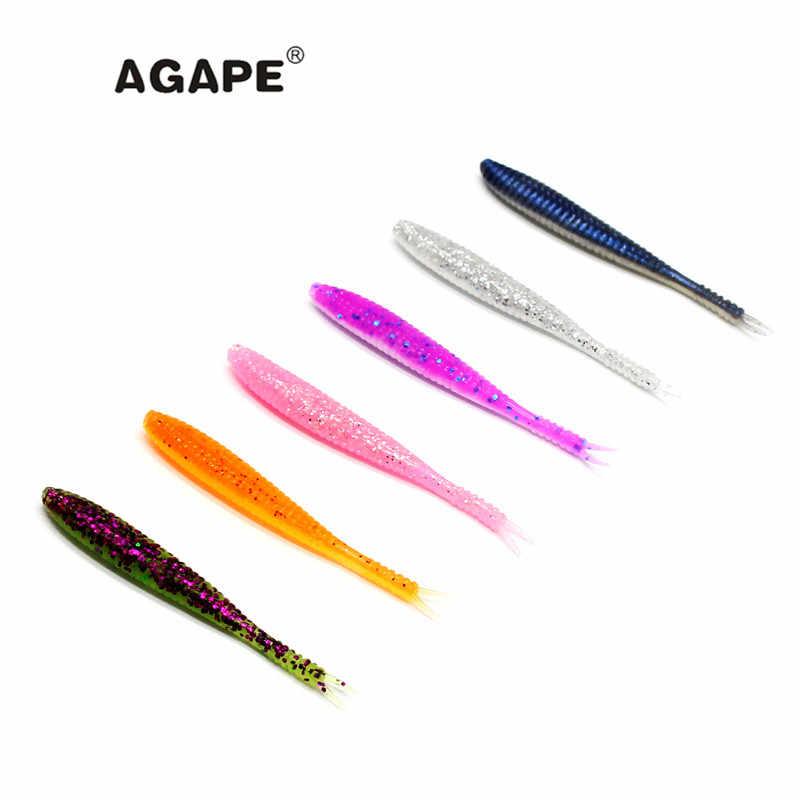AGAPE Рыболовная Приманка Мягкая приманка силиконовая Приманка Мягкая ADSL204/S-SHAD2.8 Смешанная разноцветная 12 шт. 70 мм 1,6 г
