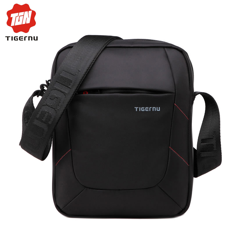 2017 Tigernu Brand Shoulder Bag for women MessengerBag Men 10 Inch Black Men bag Crossbody Bags Small Handbag Casual Business