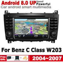 IPS Android 8.0 up Car DVD GPS Navi Map For Mercedes Benz C Class W203 2004~2007 NTG 2 DIN multimedia player radio WiFi System цена