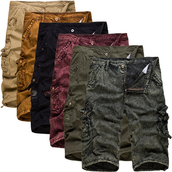 New 2018 Men's Casual Camouflage Shorts Men Loose Cargo Shorts Men Multi-pocket Military Shorts
