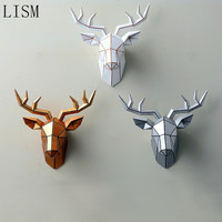 3D / animal resin deer head decoration geometric deer head living room wall decoration pendant home accessories accessories
