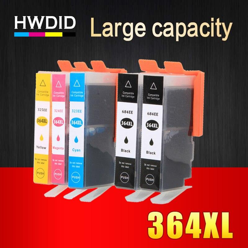 HWDID 364XL Compatible ink cartridge replacement for HP 364 xl for Photosmart Deskjet 3070A 5510 6510 B209a C510a C309a Printer hwdid 56xl 57xl ink cartridge compatible for hp 56 57 c6656a c6657a deskjet 450ci 5550 5552 7150 7350 7000 2100 220 printer