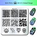 BORN PRETTY 1Pc Nail Stamping Plate 6*6Cm Square Template Animal Design Skull Image Plate BP-X13
