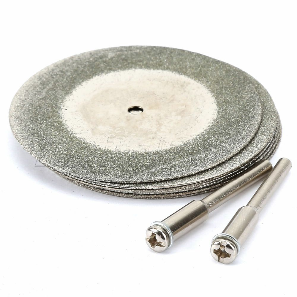 Good Quality 8pcs 50mm MINI Generic Diamond Coated Cutting Discs For Dremel Rotary Tools blade wheels disc 5pc high quality emery diamond coated double side cutting discs cut off blade grinding disc for dremel rotary tools 1 mandrel