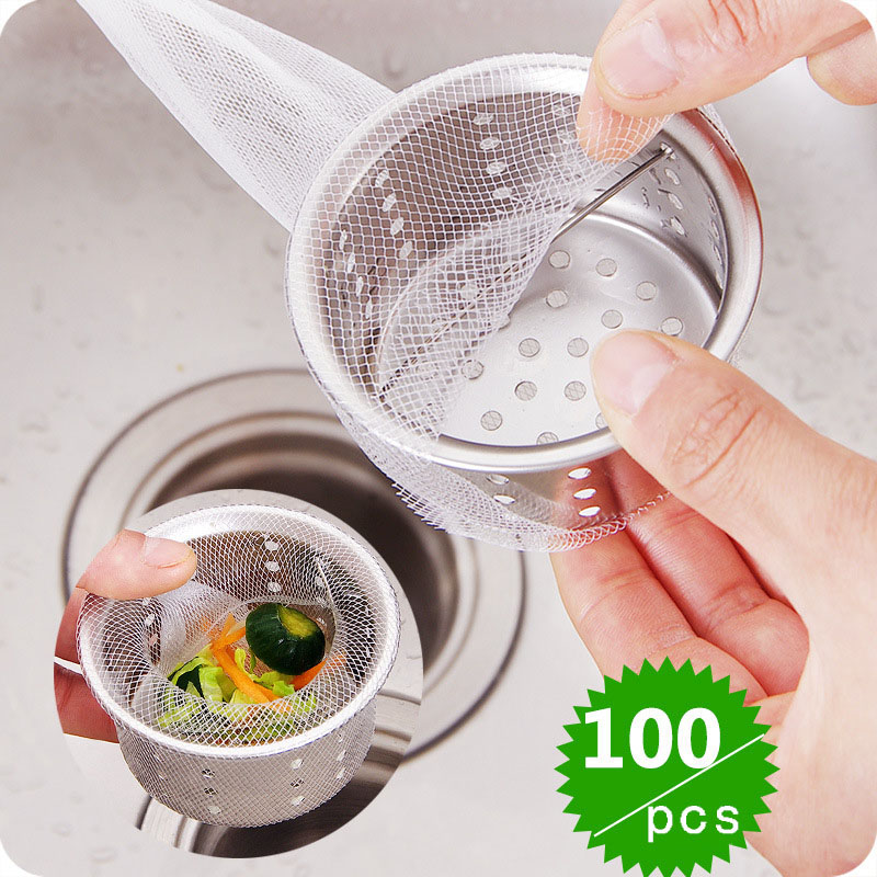 100pcs Sink Filter Bags Disposable Strainer Bags for Cooking Food Filter