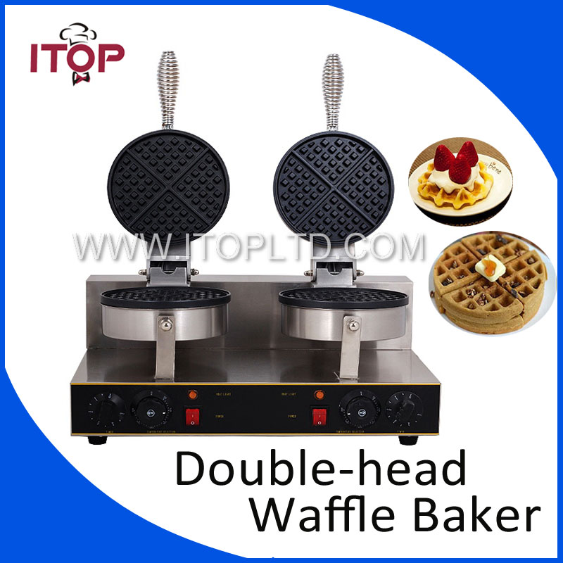 2000W ITOP Electric Waffle maker Double heads Waffle machine Non-stick waffle grill 220V steba pg4 4 cont grill and waffle