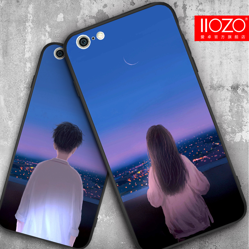 IIOZO Couples Phone Case for iphone 7 8 plus Ultra Thin Cute Boy Girl Hard PC Back Cover Shell for iphone 6 6s plus Capa Fundas