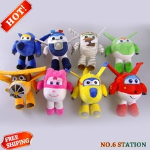 8Style 20cm Super Wings Jett Plush Toys Cute Super Wings Airplane Robot Stuffed Plush Toys Soft Toy Gift for Kids Children