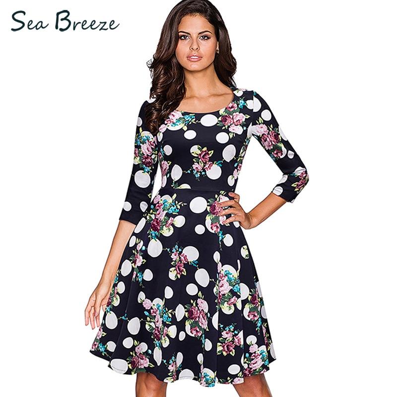 Sea Breeze 2018 Autumn Women Fashion O Neck Print Three