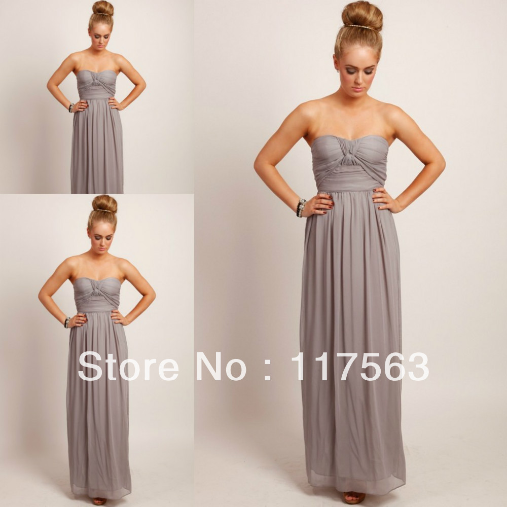 Popular Grey Maxi Bridesmaid Dresses-Buy Cheap Grey Maxi ...