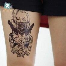Body Art HD Large Tattoo Sticker Body Art Sexy Assassin Women Gun Temporary Tattoo Terrorist Stickers Flash Taty Tatoo