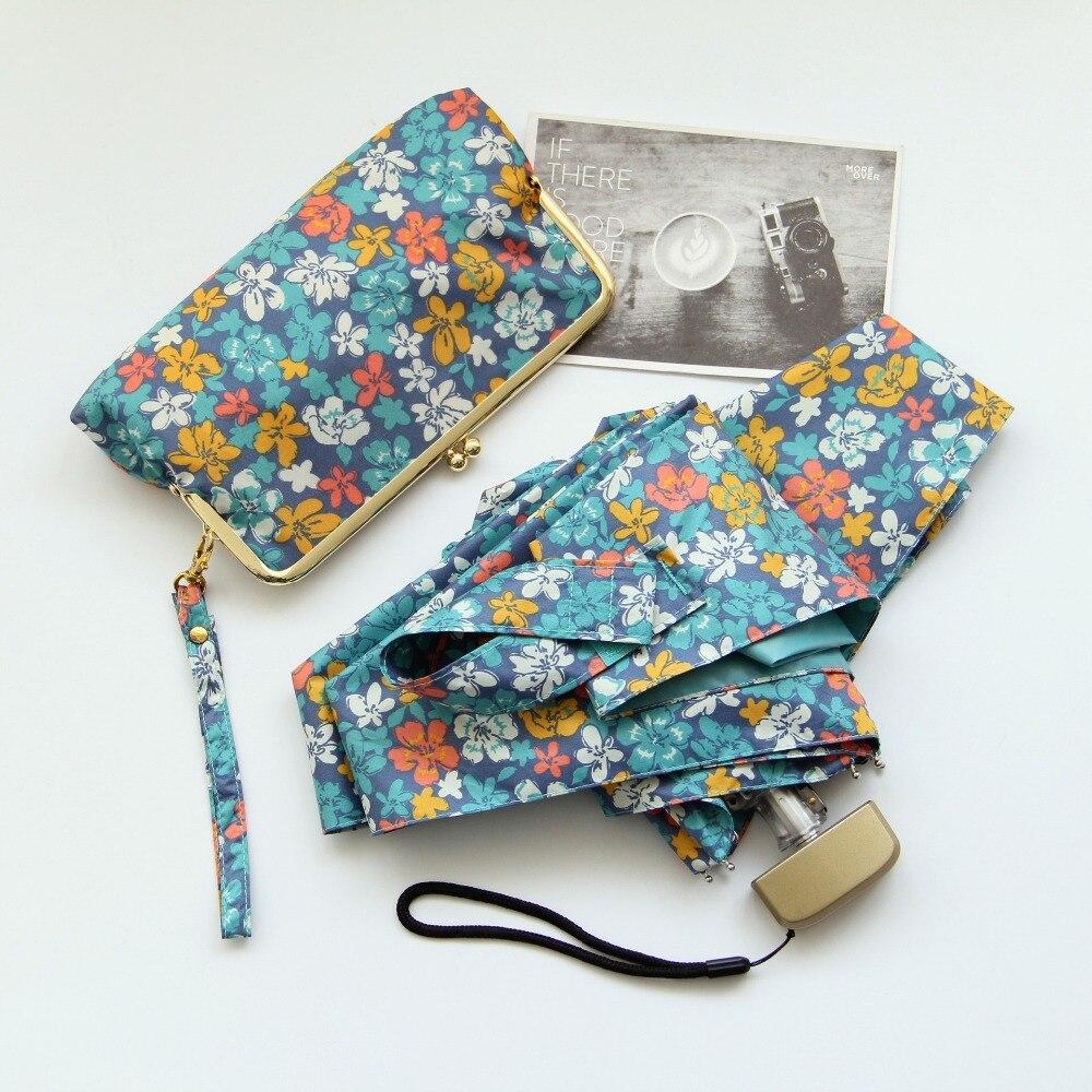 Smart Mini Umbrella R Portable Sunshade Plegable Sombrilla Paraguasain Sun Women Parasol Female Novelty Kid Umbrellas Rain 50rr001 Rain Gear Home & Garden