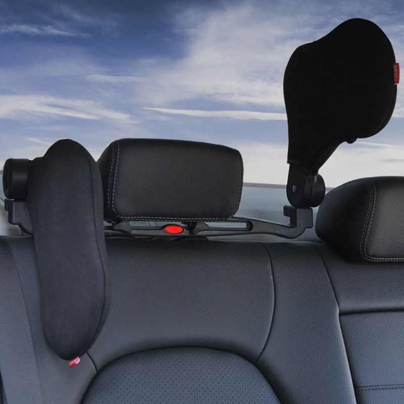 1 Juego de reposacabezas de viaje de coche Unisex puede ser cualquier cabeza de vehículo de rotación almohada de descanso lateral de coche almohada de cuello de vehículo cruzado