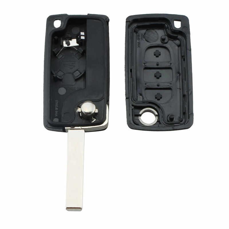 3 botões sem corte lâmina remoto chave do carro reequipamento capa caso escudo para citroen c2 c3 c4 c5 c6 xsara grande picasso fob chave caso
