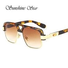 Pop Age New Top Quality Men Oversized Leopard Sunglasses Brand Designer Square Semi-Rimless Sun glasses Women luxury Gafas