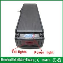 500 Вт литий-ионный аккумулятор 24 В 50ah задняя стойка батареи типа с светодиодные задние свет для 24 В 250 Вт 36 В 700 Вт двигателя Для Samsung сотовый