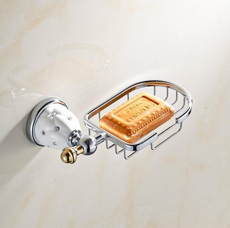 2016 Bathroom Accessories, Fashion Chrome Finish Soap Basket/ Soap container, Luxury European Design Soap Holder 2016 european