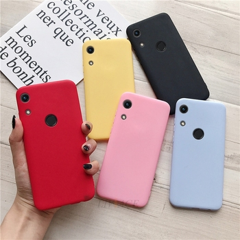 Matte silicone phone case for huawei honor 8a pro / honor play 8a candy color soft tpu back cover cases for honor 8a fundas фото