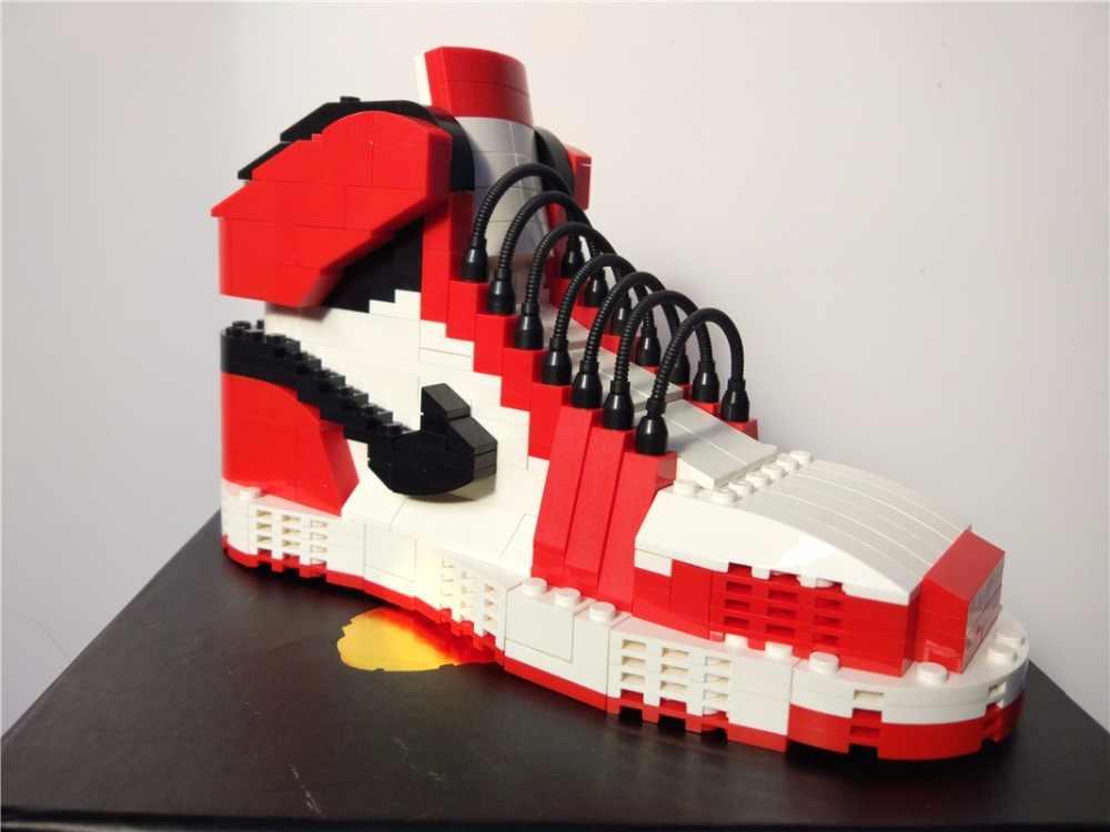 a0751bc79b ... Howplay Chicago building toy kids mandarin duck model boyfriend gift  for air jordan fans basketball shoes ...
