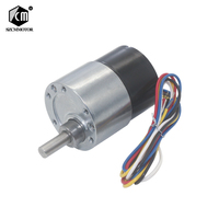 37mm Diameter Gearbox Low noise Long life High Torque 12v 24v Brushless DC Gear Motor Silent bldc gearmotor JGB37 3525